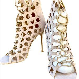 NWT Boohoo Lace Up Stiletto Heel Sandal